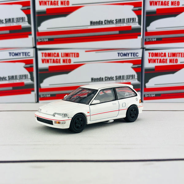 Tomytec Tomica Limited Vintage Neo 1/64 Honda Civic SiR II (EF9) Group A Plain Color Hong Kong Exclusive White