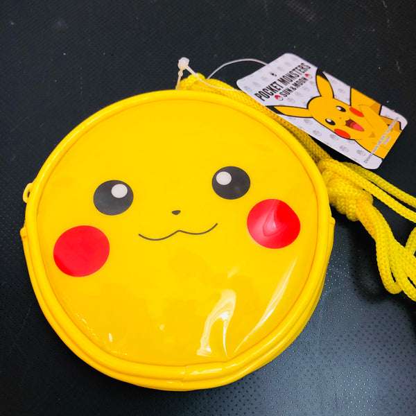 Pokemon Sun & Moon Pikachu Series Round Neck Purse Yellow PM-2832