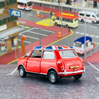 Tiny City 153 Mini Cooper Red with Union Jack Roof & White Bonnet Stripes (RHD) ATC64542