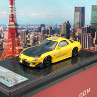 Ignition Model 1/64 Mazda RX7 FD3S RE Amemiya Yellow IG2064