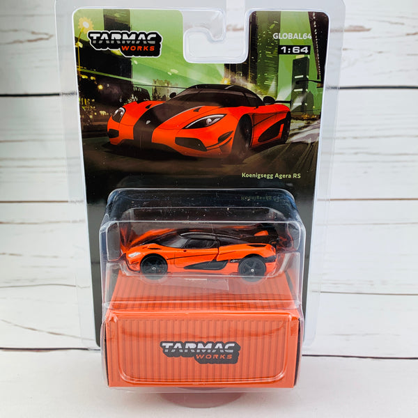 Tarmac Works 1/64 Global64 Koenigsegg Agera RS Orange/Black T64G-005-OR