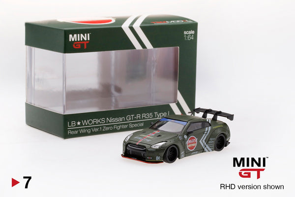 MINI GT LIBERTYWALK LB★WORKS Nissan GTR (R35) Type I Rear Wing Ver.1 Zero Fighter Special