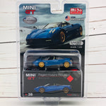 MIni GT Pagani Huayra Roadster Blue Francia LHD (USA Exclusive) MGT00038-MJ