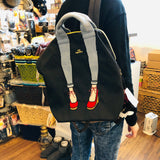 mis zapatos Nylon Skinny 3 Way Backpack - Black