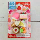 Iwako Japanese Eraser Set - Cake & Ice Cream ER-981011