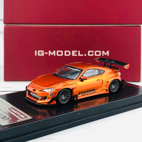 Ignition Model 1/64 Pandem Toyota 86 V3 Orange Metallic 1404