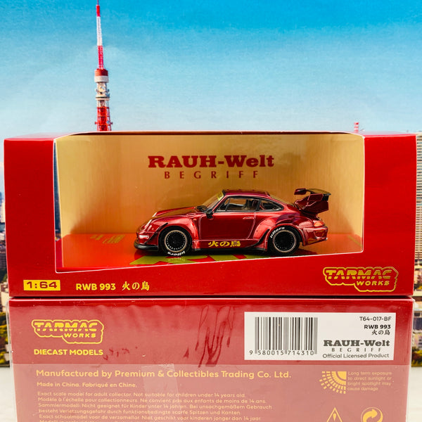 Tarmac Works 1/64 RWB 993 火の鳥 Firebird Singapore Special Edition T64-017-BF