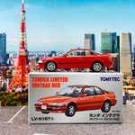Tomytec Tomica Limited Vintage Neo 1/64 LV-N197a Honda Integra 3 Door Coupe Xsi Red (1991)
