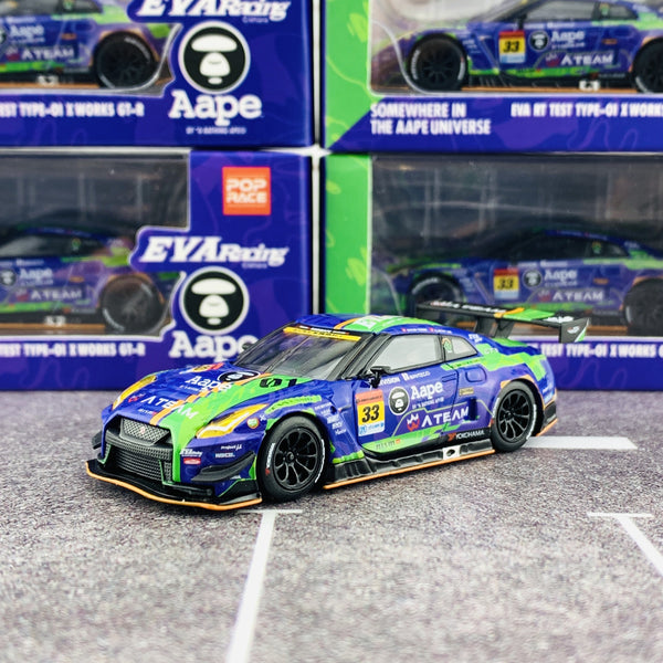 MINI GT x POPRACE 1/64 EVA RT Test Type-01 x Works GTR #33 Super GT GT300 2019 MGT00090-L