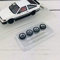 INNO TOYOTA COROLLA Levin AE86 White With Extra Wheels and Carbon Effect Front Bonnet Decal IN64-AE86-WH