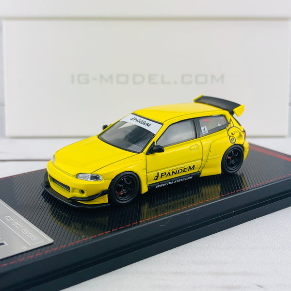 Ignition Model 1/64 Pandem Civic (EG6) Yellow 1416