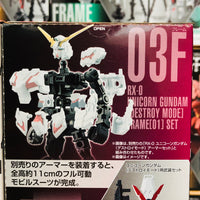 GFRAME Mobile Suit Gundam 03A and 03F RX-0 UNICORN GUNDAM (Destroy Mode) Armor and Frame Set