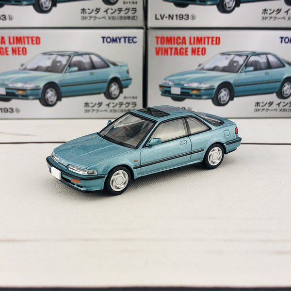 Tomytec Tomica Limited Vintage Neo 1/64 LV-N193b Honda Integra 3 Door Coupe XSi Blue (1989)