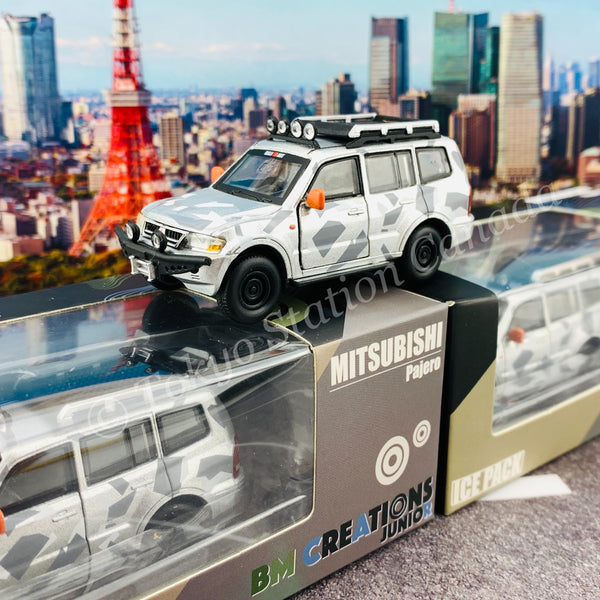 BM CREATIONS JUNIOR 1/64 Mitsubishi Pajero 3rd Generation ICE PACK LHD 64B0048
