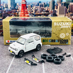 BM CREATIONS JUNIOR 1/64 Suzuki Jimny JB23 WHITE RHD (With Offroad Package) 64B0069