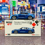 MINI GT 1/64 Pandem Nissan GTR R35 GT Wing Metallic Blue Japan Exclusive RHD MGT00096-R