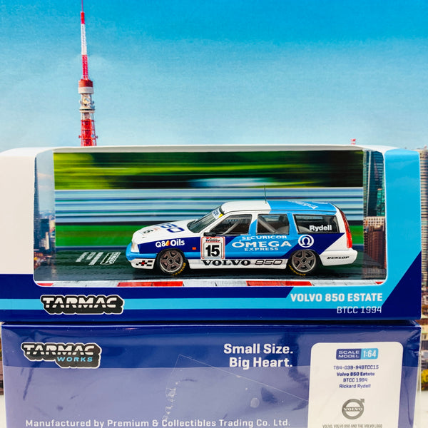 Tarmac Works 1/64 Hobby Collection Volvo 850 Estate #15 BTCC 1994 Rickard Rydell T64-039-94BTCC15