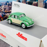Schuco 1/64 VW Kafer (Beetle) Green/Beige 452016800