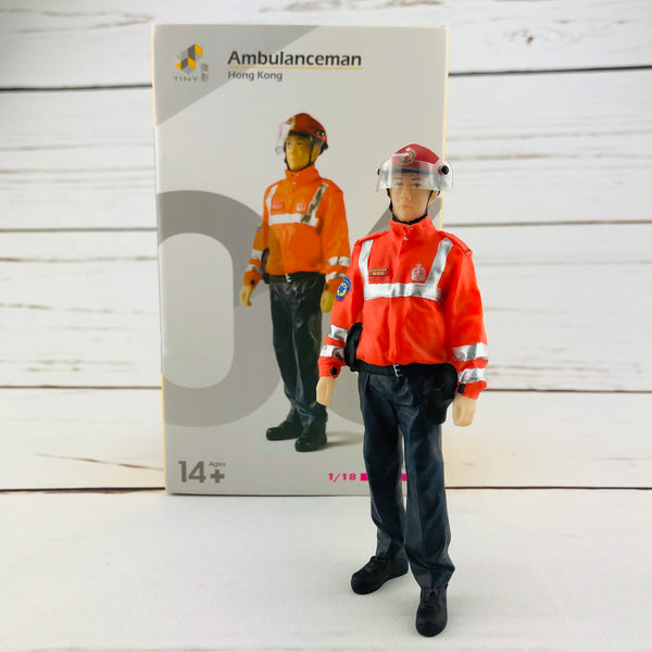Tiny 1/18 Figure Ambulanceman Hong Kong