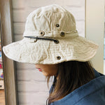 Safari 2-way Hat - Cream