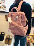 anello® Japan Synthetic Leather Mouthpiece Backpack - Lavender AT-B1211