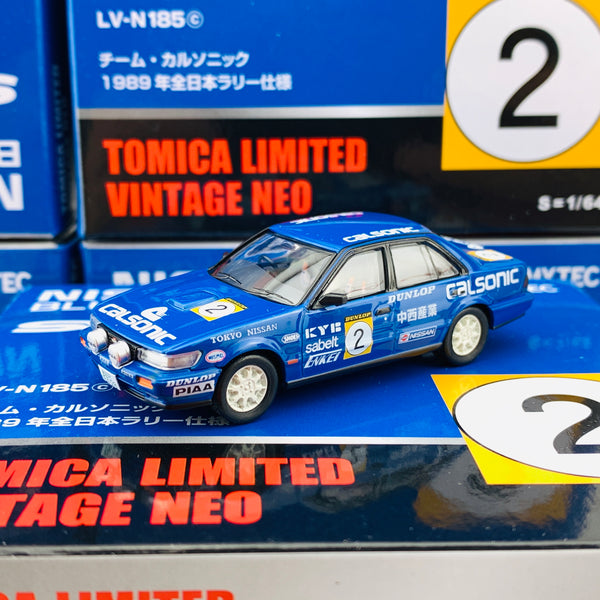 Tomytec Tomica Limited Vintage Neo 1/64 Nissan Bluebird SSS-R Calsonic #10 1989 LV-N185d