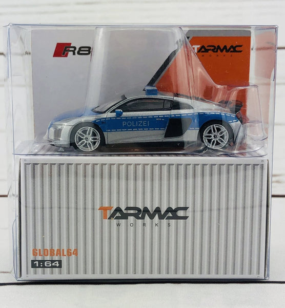 Tarmac Works GLOBAL64 1/64 Audi R8 V10 Plus - German Polizei