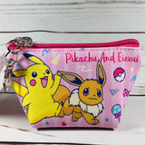 Pikachu And Eievui Mini Pouch with Keychain Holder PM-5533173PE