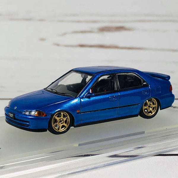 INNO64 HONDA CIVIC FERIO EG9 BLUE with Customizable Stickers and 1 set of wheel