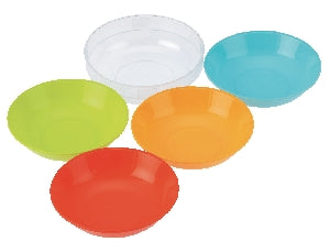 inomata round bowl 4pk with clear plate