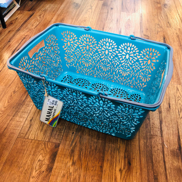 MAHAL COMPANY Japan Basket Large Turquoise