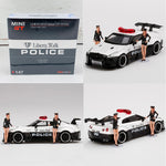 MINI GT 1/64 LB WORKS Nissan GTR R35 Type 1, Rear Wing ver 1, LB Ploice Limited Edition RHD MGT00147-R
