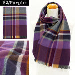 Lune Jumelle Plaid Scraf - Purple QC828523-52 Made in France
