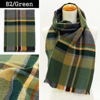 Lune Jumelle Plaid Scarf - Green QC828523-82 Made in France