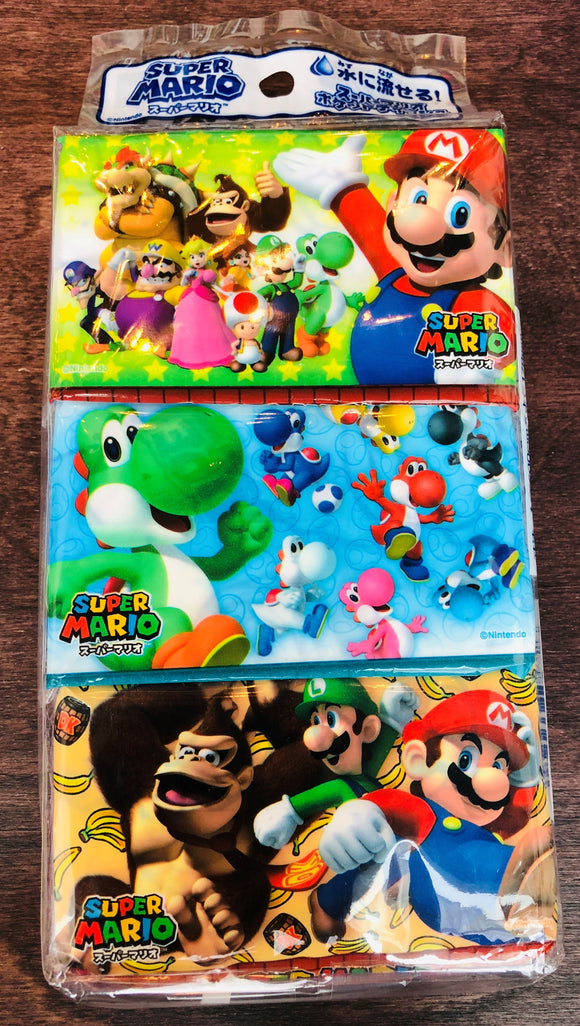 Hayashi Super Mario Pocket Size Tissue x 6 Packs