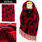 Lune Jumelle Sitting Cat Scarf Red/Black WP828007-42