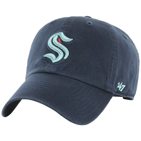 47 Brand Seattle Kraken Navy Clean Up Adjustable Hat