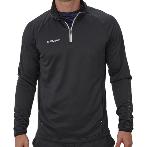 Bauer Vapor Fleece Black 1/4 Zip