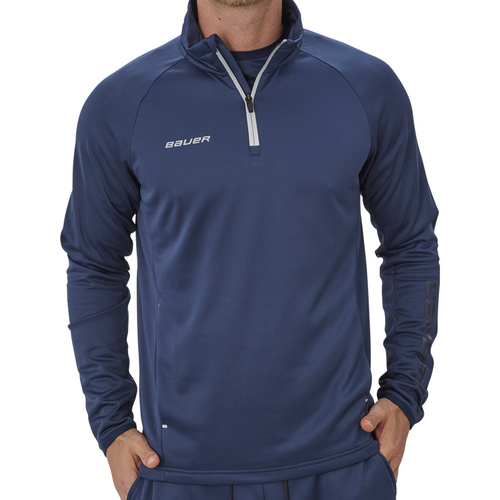 Bauer Vapor Fleece Navy 1/4 Zip - ADULT