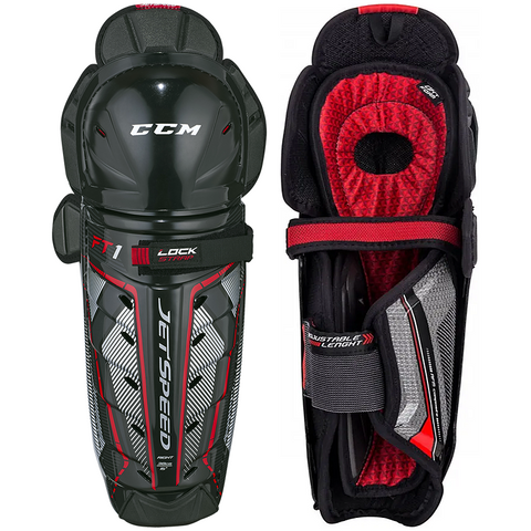 CCM JetSpeed FT1 Shin Guards - SENIOR