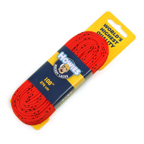 Howies Hockey Red Skate Laces