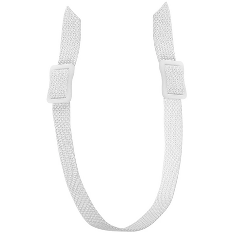 Pro Guard 2-Buckle White Chin Strap
