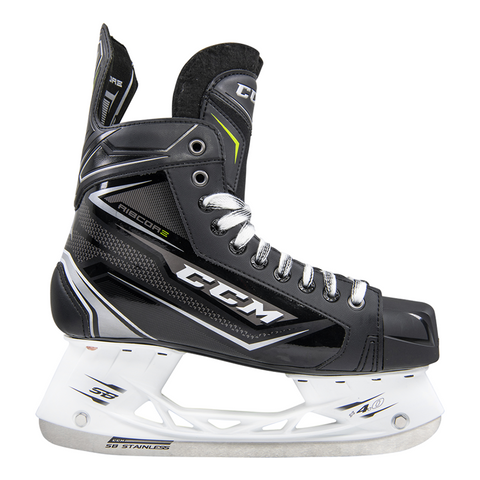 CCM Ribcor Silver Ice Skates - JUNIOR