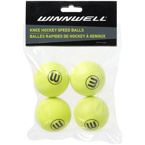 Winnwell Knee Hockey Balls (4 Pack)