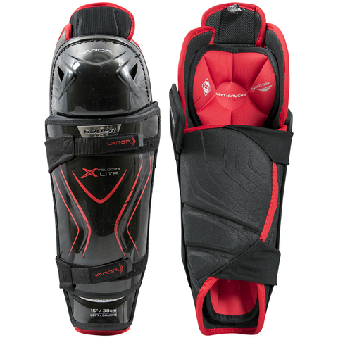 Bauer Vapor X Velocity Lite Shin Guards - SENIOR