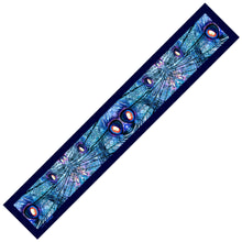 Load image into Gallery viewer, blue illusion silk skinny scarf design-img