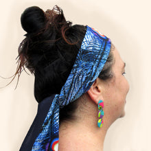 Load image into Gallery viewer, Blue Illusion - Silk Skinny Scarf