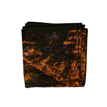 Load image into Gallery viewer, phoenician club silk square scarf folded