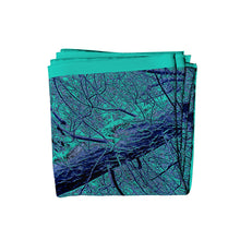Load image into Gallery viewer, zig to the zag silk square scarf folded