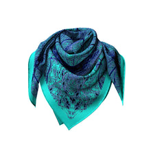 Load image into Gallery viewer, zig to the zag silk square scarf looped